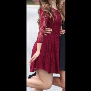 Dresses & Skirts - Cute red lace dress
